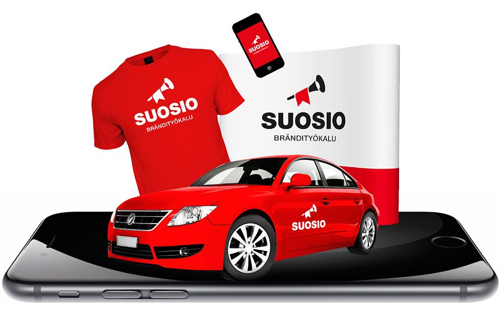Yritysilme, messuosasto, autoteippaus, mobiilisovellus